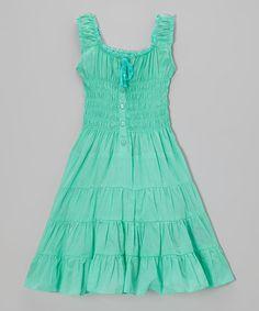 Look at this #zulilyfind! Jade Ice Shirred Dress - Girls by Chillipop #zulilyfinds
