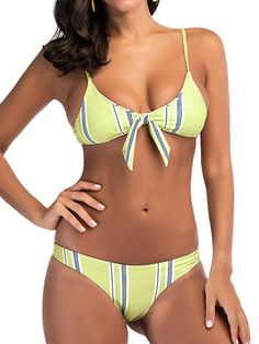 c2893ae345794 Bikinis - BMJL Women s Sexy Detachable Padded Cutout Push up Striped ...