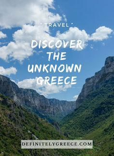 We want to introduce you to some of the lesser known destinations in Greece, yet stunning in beauty. One of them is Epirus, the most mountainous region in Greece but still a secret from the world. Europe Destinations, Amazing Destinations, Mykonos Island, Parthenon, Greece Travel, Best Vacations, Countries Of The World, Greek Islands, Cool Places To Visit