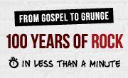 #Infographic 100 Years of Rock Visualized,100 Años de Rock, resumidos en esta #Infografía musicalizada...
