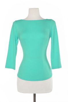 Laura Byrnes California Sabrina Top in Mint | Pinup Girl Clothing