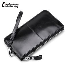 Special offer  LIELANG Genuine Leather Men Wallet Long Purse Men's Zipper Wallets Fashion Male Clutch Phone Card Holder Coin Purse Money Bag just only $18.86 with free shipping worldwide  #walletsformen Plese click on picture to see our special price for you