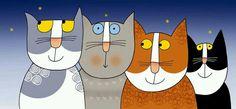 Cats by Nicoletta Costa