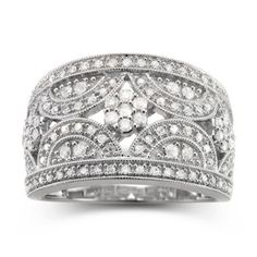 diamond blossom 1/2 CT. T.W. Diamond Cluster Sterling Silver Ring  found at @JCPenney