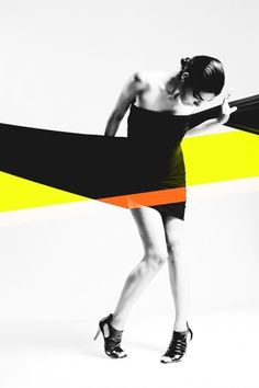 graphic design + fashion, wow i absolutely love this. simple but powerful: