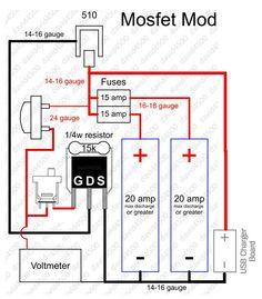 Mosfet mod, with volt meter.