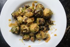 Dijon-Horseradish Incrusted Brussels Sprouts