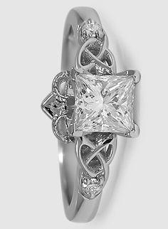 Platinum Claddagh Ring