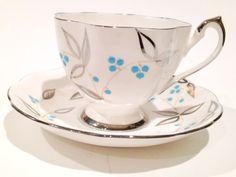 Queen Anne Tea Cup and Saucer English Tea Set by AprilsLuxuries