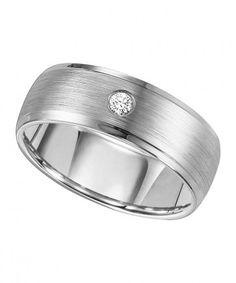 Triton, Cobalt 8mm I2-IJ Diamond Wedding Band, 1/10 ctw