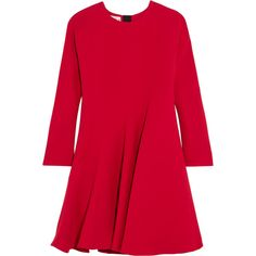 Marni Silk and wool-blend dress ($1,880) ❤ liked on Polyvore featuring dresses, marni, платья, polish dress, wetlook dress, shiny dress, oversized dress and zip dress