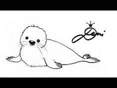 Robbe schnell zeichnen lernen für Kinder ✏️How To Draw a Seal 👍 как се рисува тюлен - Ganz einfach Tiere zeichnen lernen Fall Color Palette, Sketch Notes, Woodland Party, Doodle Drawings, Learn To Draw, Ceramic Art, Doodles, Scrapbook, Ceramics