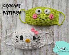 Crochet Om Nom face mask pattern for kids Crochet face mask Animal Sewing Patterns, Knitting Patterns, Crochet Patterns, Knitting Ideas, Crochet Mask, Crochet Faces, Stuffed Animals, Crochet For Kids, Free Crochet