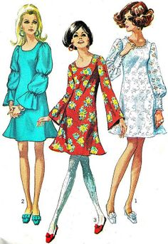 21 ideas fashion vintage retro sewing patterns for 2019 1960s Dresses, Vintage Dresses, Vintage Outfits, Dresses Dresses, Fashion Dresses, 60s And 70s Fashion, Retro Fashion, Vintage Fashion, Sporty Fashion