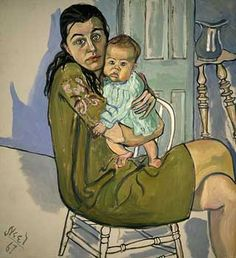 Alice Neel, Portrait of Nancy and Olivia, 1967. Alice Neel (1900-1984) was an American artist known for her oil on canvas portraits of friends, family, lovers, poets, artists and strangers.
