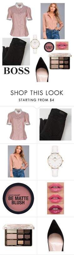 """Business Casual"" by kylie24b ❤ liked on Polyvore featuring Peuterey, Abercrombie & Fitch, Black Swan, Daniel Wellington, Too Faced Cosmetics, HUGO and Kate Spade"
