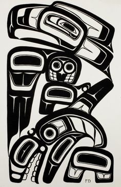 Freda Diesing,  Thunderbird and Whale, silkscreen 17 1/2 x 11 1/2 in. (44.5 x 29 cm) (unframed) (slight creases) Estimate $ 70-90 Maynards Industries - Fine Art & Antiques