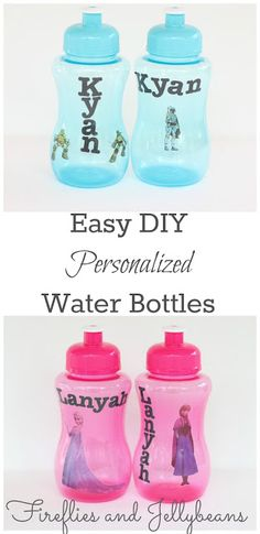 Easy DIY Personalized Water Bottles (Back to School Craft Lighting!)