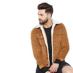 Buy Fugazee Men's Cotton Corduroy Faux Fur Jacket at Amazon.in Tailored Jacket, Corduroy Jacket, Faux Fur Jacket, Fur Trim, Best Sellers, Men's Fashion, Men Sweater, Amazon, Moda Masculina