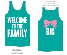 big/little crafts | ... of our mesh or cotton tanks. Very cute sorority big/little shirt idea