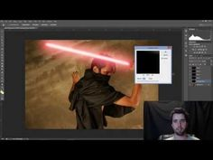 How to Create a LIGHTSABER in Photoshop #MinutePhotoshop - YouTube