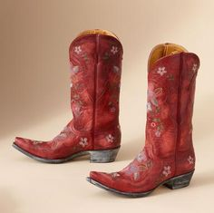Love red and love cowboy (cowgirl) boots!  I repinned this from http://www.sundancecatalog.com/product/footwear-and-bags/boots/old+gringo+lone+star+gaia+boots+in+red.do?sortby=ourPicks&page=4