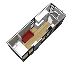 tiny trailer home floor plans | ClearSpace Homes Trailer Tiny House - floorplan