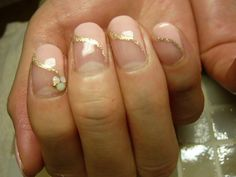 French Tips with a Twist and a Sparkle!