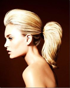 A twist on the classic ponytail, retro inspired.