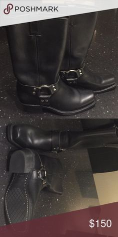 Frye Motorcycle Boots Black Frye Motorcycle Boots in new condition without box. Frye Shoes Combat & Moto Boots
