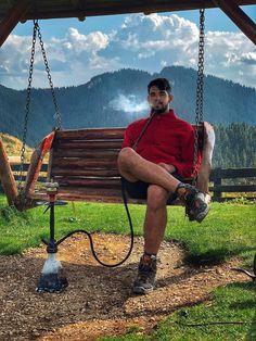 Hookah Mountain - Chill Shisha - smoke shisha on mountain - love to smoke shisha - shishahoolic Hookah Smoke, Porch Swing, Outdoor Furniture, Outdoor Decor, Chill, Mountain, Instagram, Home, Socrates