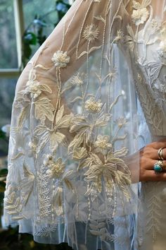 Bespoke, personalised bridal cape, hand-embroidered with silk thread. Princess Wedding Dresses, Bridal Wedding Dresses, Wedding Dress Styles, Bridal Veils, Capes, Hermione, Ball Dresses, Ball Gowns, Grooms Party