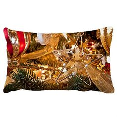Poieloi Christmas Star Decoration Home Sofa office Throw Pillow Case Cushion Cover Merry Christmas Gift 20x30 >>> Want to know more, click on the image.