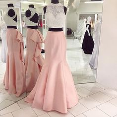 Cheap prom dresses 2018 Mermaid prom dresses Two Piece Long Prom Dress Pink Mermaid Long Prom Dress with White Top Open Back Prom Dresses, Prom Dresses 2018, Mermaid Prom Dresses, Cheap Prom Dresses, Dresses For Teens, Evening Dresses, Party Dresses, Mothers Dresses, Dresses Dresses