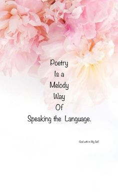 The language of coherently said always catches the ears as it's sequence of words are in to the framing of creating the impulses of magic and catching the miracles through the created magical resonance.