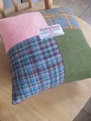 tweed wool patchwork cushions - Google Search