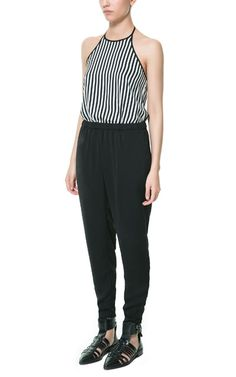 Image 1 of STRIPED COMBINATION JUMPSUIT from Zara