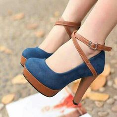 Cute blue and brown shoes