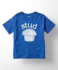 Another great find on #zulily! Royal Blue 'Stud' Muffin Tee - Toddler & Boys by LC Trendz #zulilyfinds