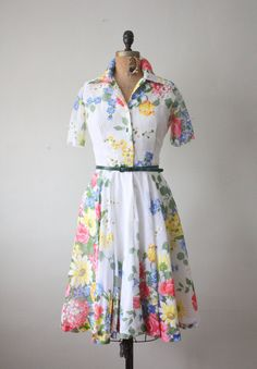 vintage 1950's floral cocktail dress $119