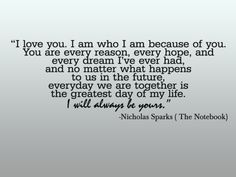 notebook quotes | My Little Things: The Notebook