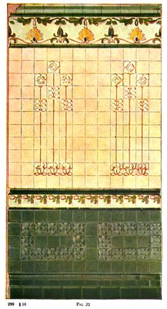 Wall tile design from 1916 Tile Design Manual.