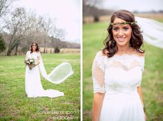 stunning beauty, beautiful bride, bridal portraits, wedding photography, wedding veil, wedding fashion, lace, stylish crown, natural bride, portraiture, tennessee photographer :: James + Elena's Wedding at The Sam Davis Home in Smyrna, TN :: with Christine -- flowers by @Beyond Details Nashville
