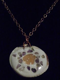 Moonstone Amethyst Orgone Orgonite Necklace Pendant with by BarefootAlchemy, $30.00