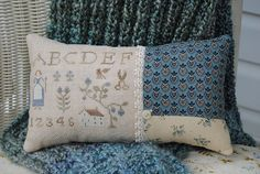 Cross Stitch Project:  Pretty finishes on pillow