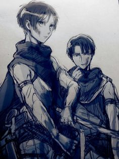 Eren and Levi SnK/AoT