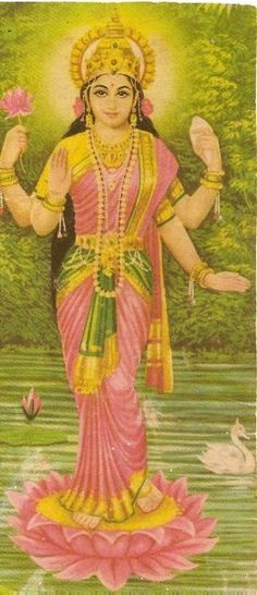 Hindu Goddess of the bringer of good luck. Hindu Vedas, Hindu Deities, Indian Gods, Indian Art, Divine Mother, Vedic Astrology, Sacred Feminine, Goddess Lakshmi, Gods And Goddesses