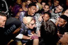 Lady Gaga:   Lady Gaga with her backup dancers backstage before the Pepsi Zero Sugar Super Bowl LI Halftime Show at NRG Stadium on Feb. 5, 2017 in Houston, Texas.