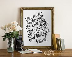 Inspirational Jane Austen quotes poster