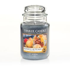 Yankee Candle Large jar blissful autumn scented candle ($32) found on Polyvore